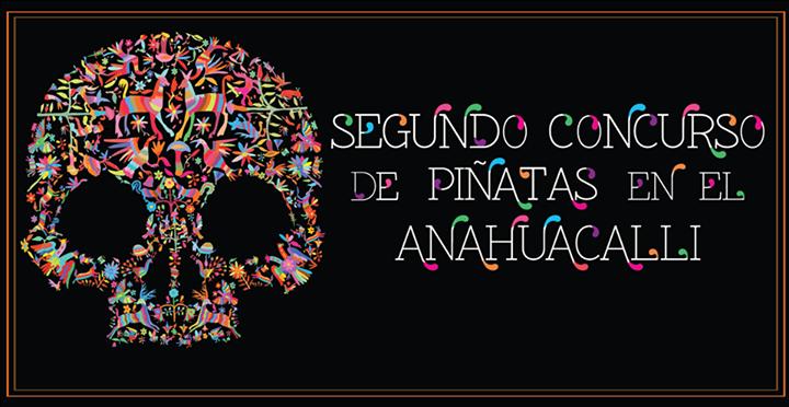 Crea una calavera de piñata, para el Museo Anahuacalli