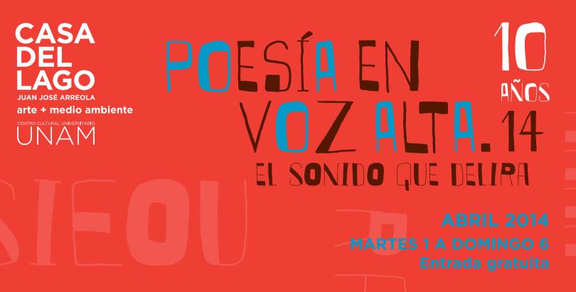 Poesía en Voz Alta.14: Seis días de voces en su décimo aniversario