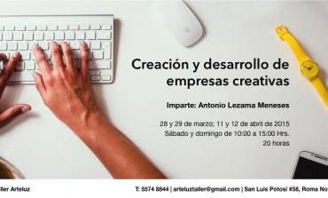 ¿Te interesa crear una empresa cultural? ¡Este taller es para ti!