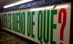 Barbara Kruger cuestiona al público en el Metro Bellas Artes