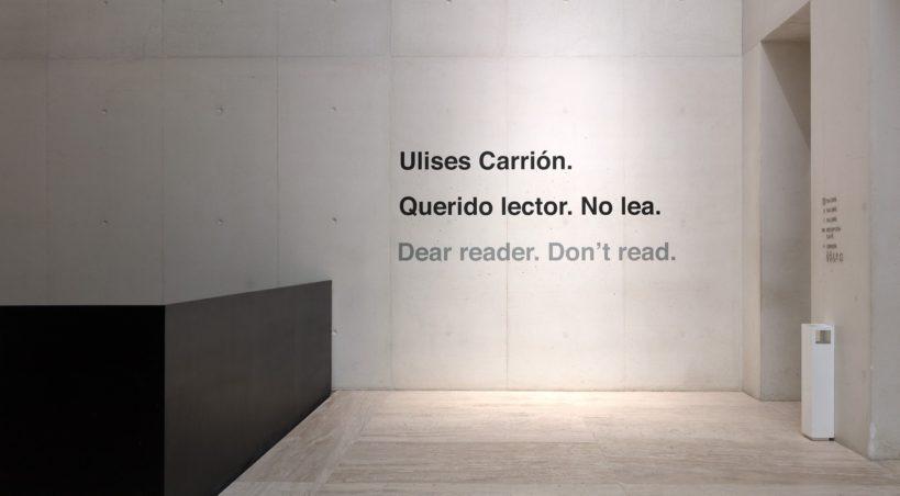 Conoce a Ulises Carrión y su arte conceptual