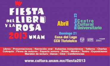 ¡Libros para celebrar! Fiesta del Libro y la Rosa en la UNAM